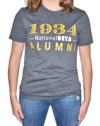 Gray Alumni Short Sleeve Tee