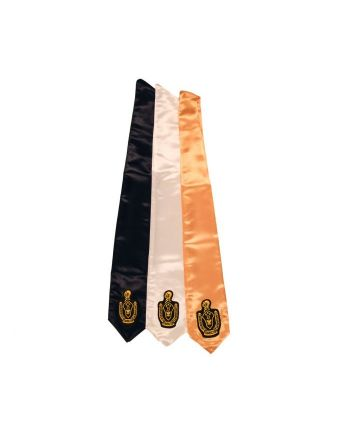 BLACK DRAPE STOLE with SENIOR PATCH