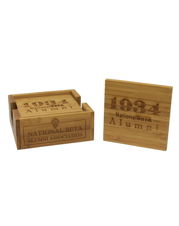 Wood Alumni Coaster Set