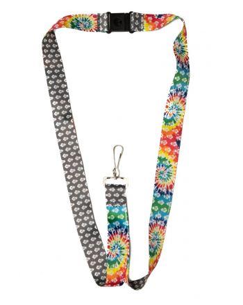 Reversible Lanyard - Grey & Tie Dye