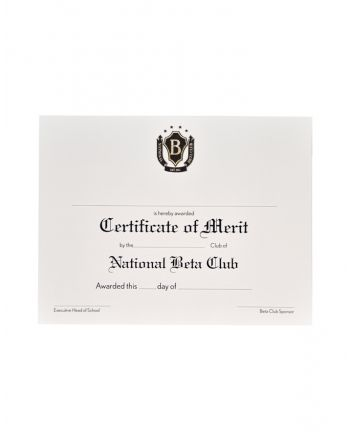 Certificate of Merit